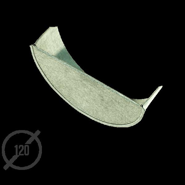 Заглушка желоба водосточного диаметр 120 мм оцинкованная от Vsevodostoki.ru