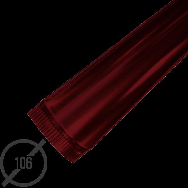 Желоб водосточный диаметр 106 мм рал 3005 стальной 05 мм от vsevodostoki ru