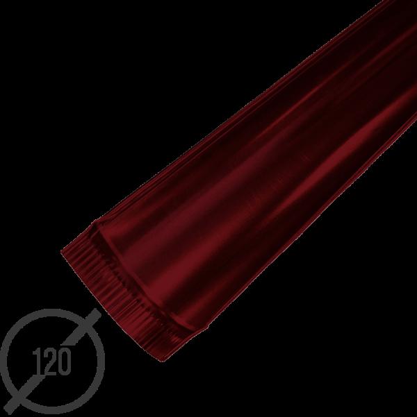 Желоб водосточный диаметр 120 мм рал 3005 стальной 05 мм от vsevodostoki ru
