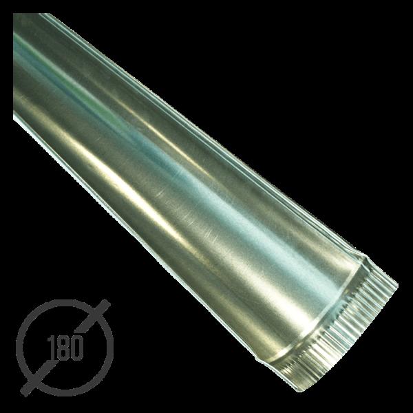 Желоб водосточный диаметр 180 мм оцинкованный стальной 0,5 мм от VseVodostoki.ru