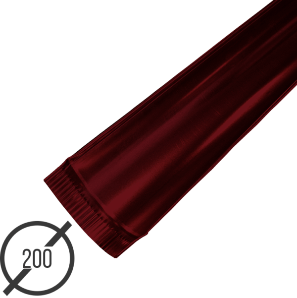 Желоб водосточный диаметр 200 мм рал 3005 стальной 05 мм от vsevodostoki ru