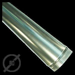 Желоб водосточный диаметр 80 мм оцинкованный стальной 0,5 мм от VseVodostoki.ru