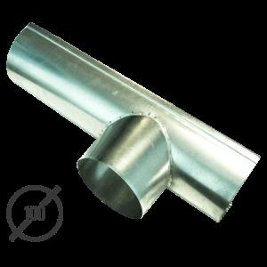 Канадка (желоб с воронкой) диаметр 100 мм оцинкованная стальная 05 мм vsevodostoki ru