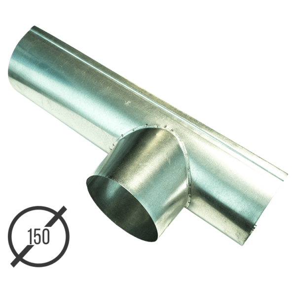 Канадка (желоб с воронкой) диаметр 150 мм оцинкованная стальная 05 мм vsevodostoki ru