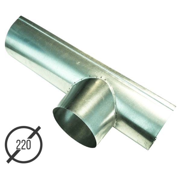 Канадка (желоб с воронкой) диаметр 220 мм оцинкованная стальная 05 мм vsevodostoki ru