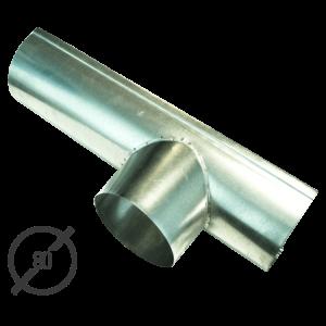Канадка (желоб с воронкой) диаметр 80 мм оцинкованная стальная 05 мм от vsevodostoki ru