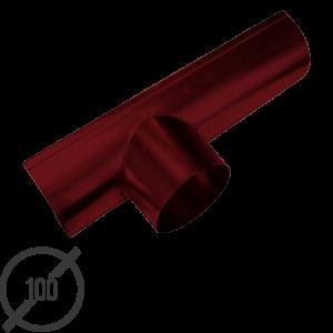 Канадка (желоб с воронкой) диаметр 100 мм рал 3005 стальная 05 мм от vsevodostoki ru