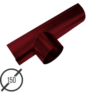Канадка (желоб с воронкой) диаметр 150 мм рал 3005 стальная 05 мм от vsevodostoki ru