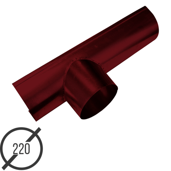 Канадка (желоб с воронкой) диаметр 220 мм рал 3005 стальная 05 мм от vsevodostoki ru