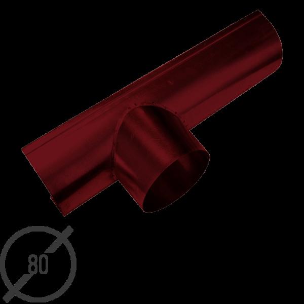 Канадка (желоб с воронкой) диаметр 80 мм рал 3005 стальная 05 мм от vsevodostoki ru