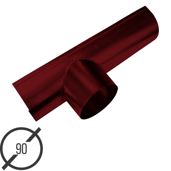 Канадка (желоб с воронкой) диаметр 90 мм рал 3005 стальная 05 мм от vsevodostoki ru