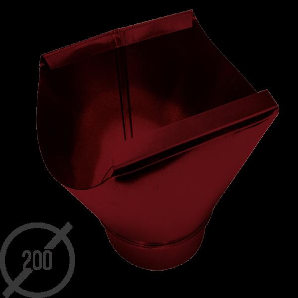Воронка желоба диаметр 200 мм рал 3005 стальная 05 мм от vsevodostoki-ru