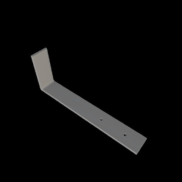 Костыль кровельный стальной г образный 100 x 400 с покрытием грунтом для устройства наклонного желоба кровли STEELPLANT