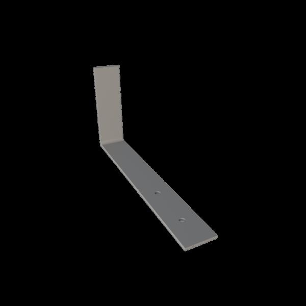 Костыль кровельный стальной г образный 150 x 350 с покрытием грунтом для устройства наклонного желоба кровли STEELPLANT