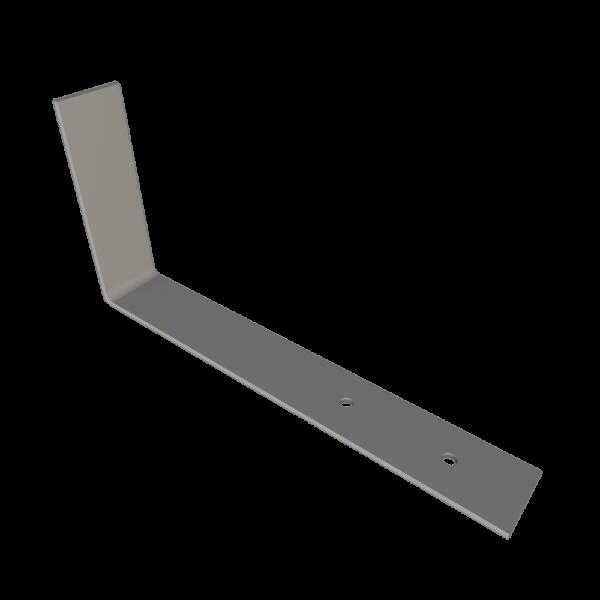 Костыль кровельный стальной г образный 200 x 400 с покрытием грунтом для устройства наклонного желоба кровли STEELPLANT