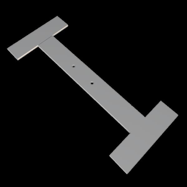 Костыль кровельный стальной Н образный 100 x 400 x 100 с покрытием грунтом для устройства карнизного свеса кровли STEELPLANT