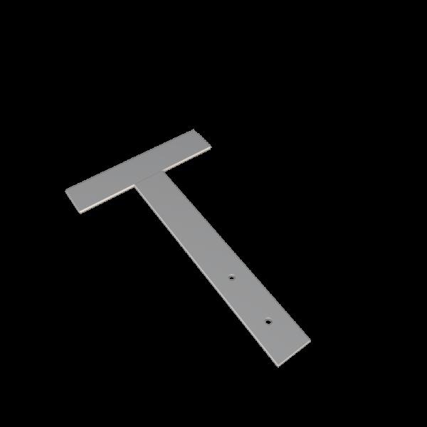 Костыль кровельный стальной т 150 x 350 образный с покрытием грунтом для устройства карнизных свесов кровли СТИЛПЛАНТ
