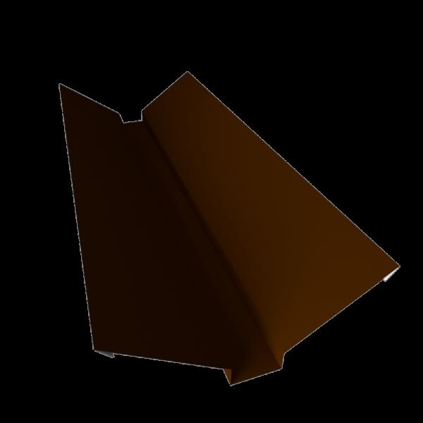Ендова кровельная верхняя (наружная) оцинкованная с полимерным покрытием RAL 8017 СТИЛПЛАНТ