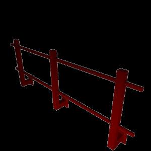 ограждение кровельное парапетное угловое стальное с полимерным покрытием RAL 3005