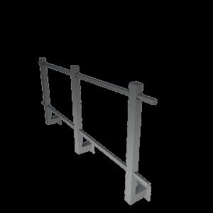 Ограждение кровельное парапетное угловое стальное с полимерным покрытием RAL 7004 высота 900 мм
