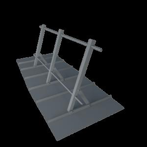 Ограждение кровельное стальное для фальцевой кровли оцинкованное высота 900 мм