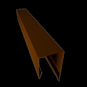 Профиль j завершающий для металлического сайдинга RAL 8017 СТИЛПЛАНТ