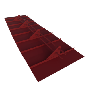 Снегозадержатель кровельный для фальцевой кровли 3 метровый 4х опорный с полимерным покрытием RAL 3005