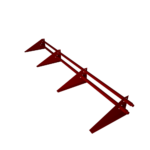 Cнегозадержатель кровельный трубчатый четырехопорный с треугольной опорой RAL 3011 СТИЛПЛАНТ