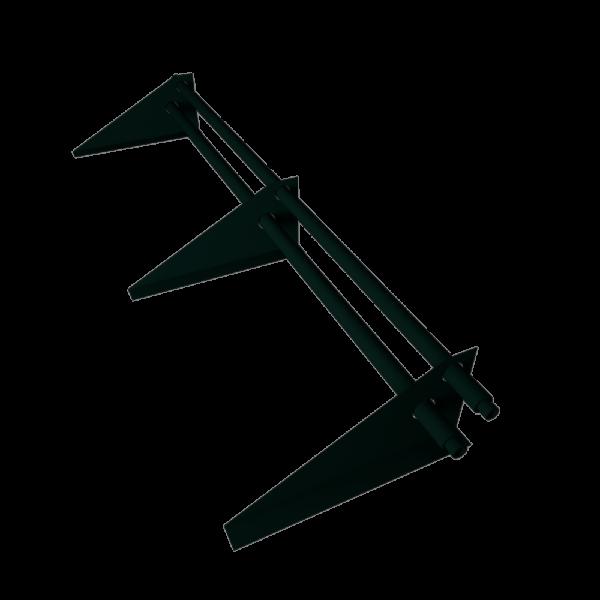 снегозадержатель кровельный трубчатый с треугольной опорой RAL 6005