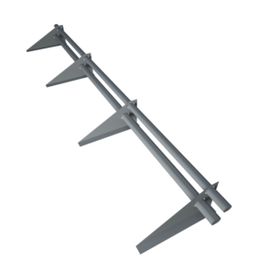 Снегозадержатель трубчатый 3 метра с овальной трубой 40 х 20 оцинкованный с треугольной опорой
