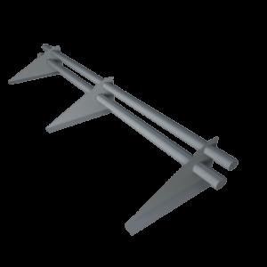 Снегозадержатель трубчатый 3 метра 3 х опорный с овальной трубой 40 х 20 оцинкованный с треугольной опорой