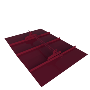 Снегозадержатель трубчатый фальцевый премиум 1 метр с овальной трубой 45 х 25 с полимерным покрытием RAL 3005 Красное вино