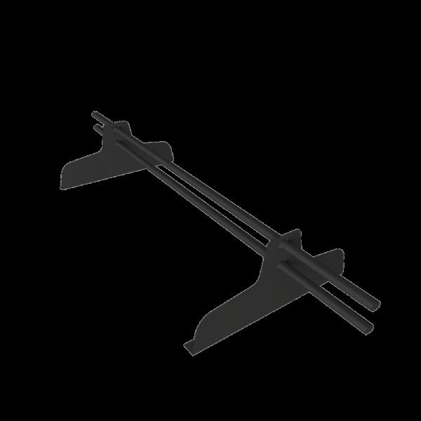 Снегозадержатель трубчатый премиум 1 метр с овальной трубой 40 х 20 с полимерным покрытием RAL 7024
