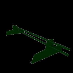 Снегозадержатель трубчатый премиум 1 метр с овальной трубой 45 х 25 с полимерным покрытием RAL 6005