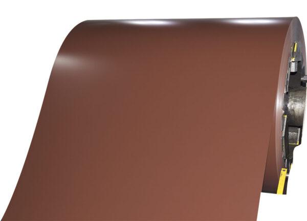 Сталь рулонная оцинкованная цвет 8017 коричневый шоколад